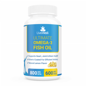 Ultimate omega 3 fish oil livewell labs for Omega 3 fish oil dosage